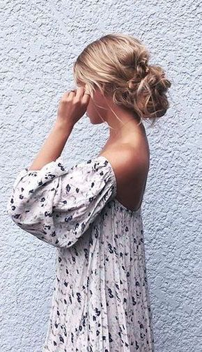 Off the shoulder. Check. Spring pattern. Check.
