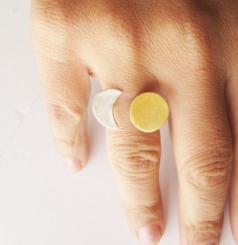 Simply gorgeous! The moon & sun on your finger! Designed by AthenArt