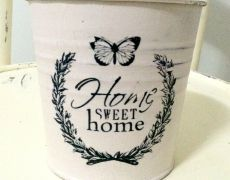 Home Sweet Home deco pot - image transfer