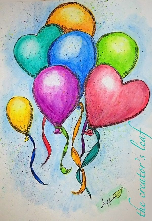 Title Watercolor Pencil Art Watercolor Paintings For