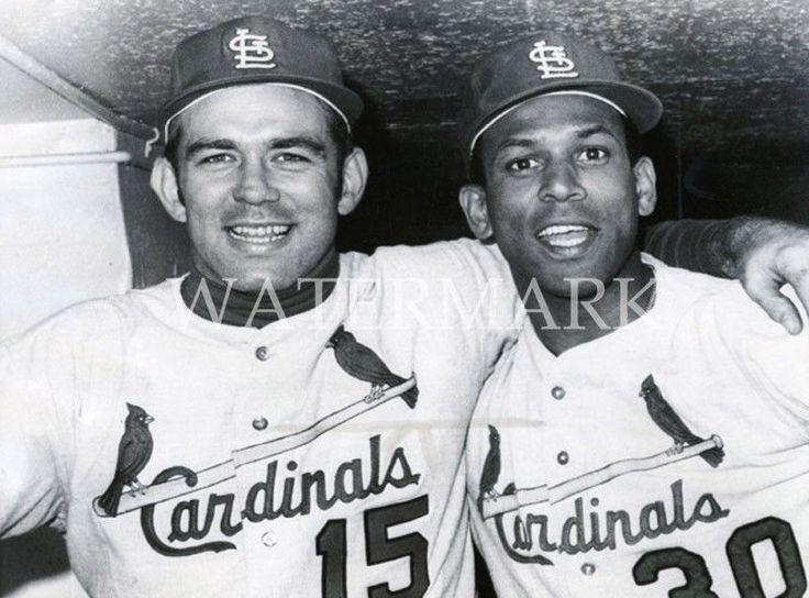 Tim McCarver & Orlando Cepeda Post Game 8x10 Photo St Louis Cardinals Baseball