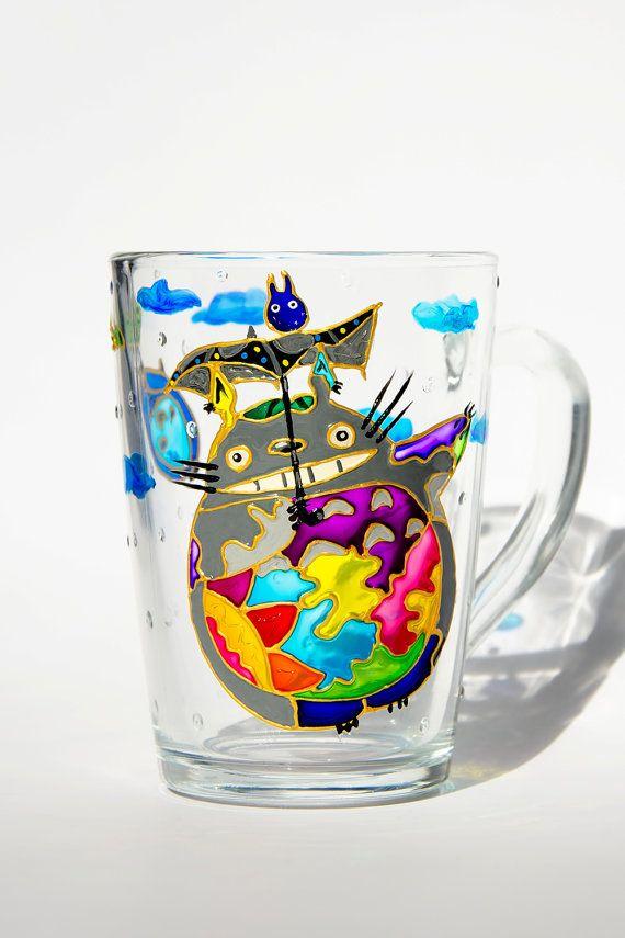 My Neighbor Totoro Custom Coffee Cup Hayao Miyazaki by Vitraaze