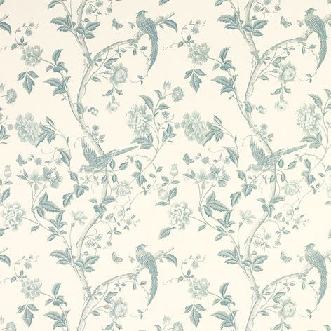 Summer Palace Off White/Duck Egg Wallpaper