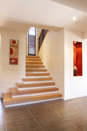 "Love a staircase which ""spills"" around the corner.."