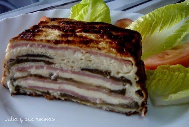 Pastel de berenjena. Les va a encantar a todos este pastel que nos cuenta cómo hacer la autora del blog Julia y sus Recetas. Descubre otros platos en su Facebook https://www.facebook.com/225010914339996.