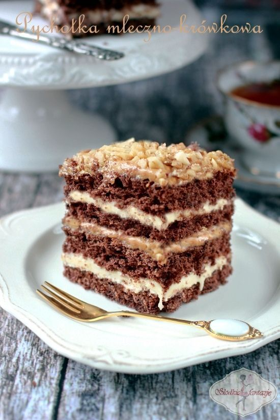 Przepyszne ciasto, któremu nie sposób się oprzeć. Kakawy biszkopt przełożony…