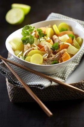 Salade asiatique de pommes de terre Ratte du Touquet