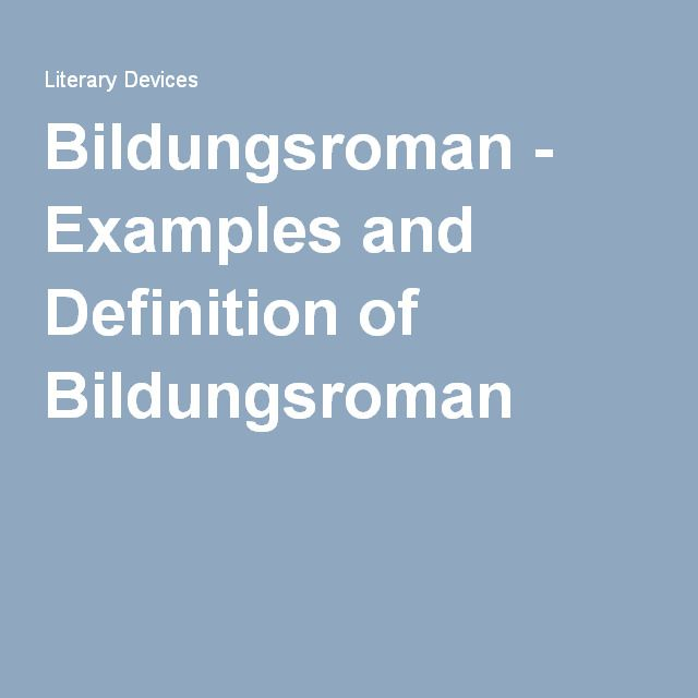 bildungsroman essay The traditional bildungsroman novel is autobiographical in form and displays similarities with the author's own life, mostly with regard to childhood experiences.