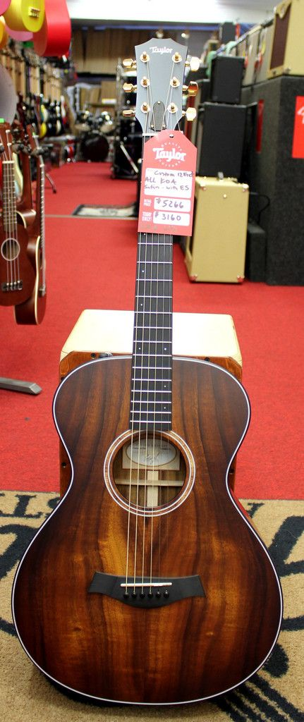 2013 taylor roadshow bto custom all solid koa 12 fret acoustic electric guitar w case acoustic. Black Bedroom Furniture Sets. Home Design Ideas