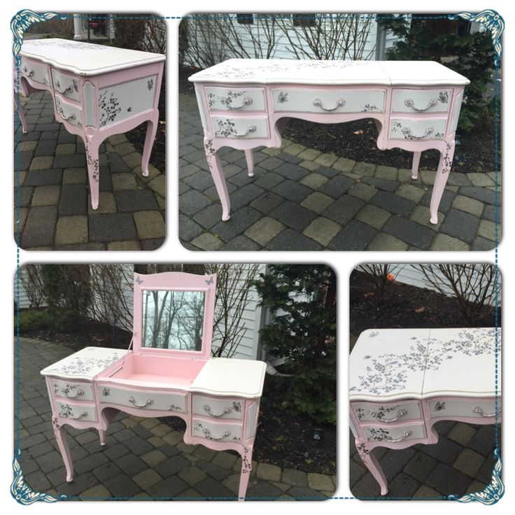 Marvelous Refinished In Shabby Paint Chalk Paint And Detail Done In Silver . Like Us  On Facebook