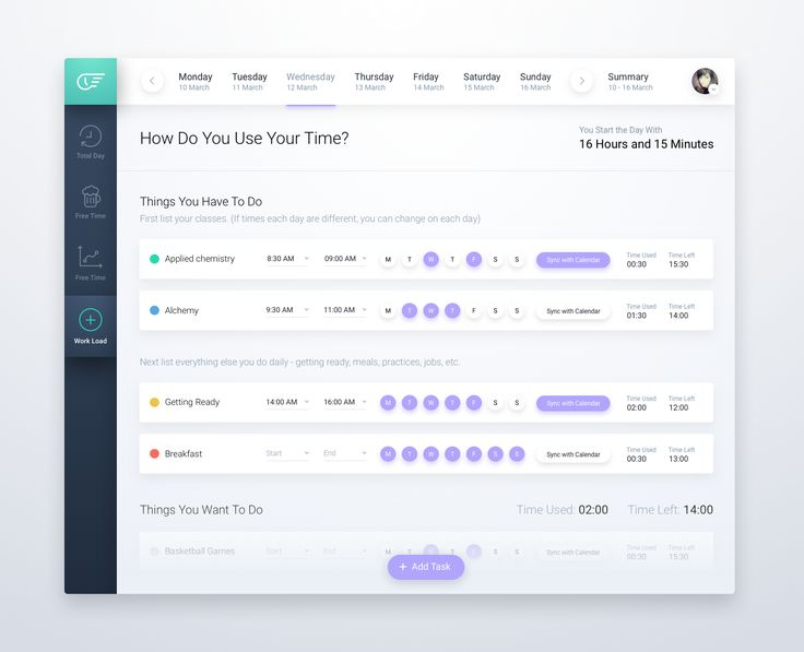 To Do App Concept - Add Task Screen by Ron Evgeniy