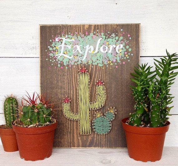 Muestra de arte cadena cactus explorar cartel de por LoveArtSoul11