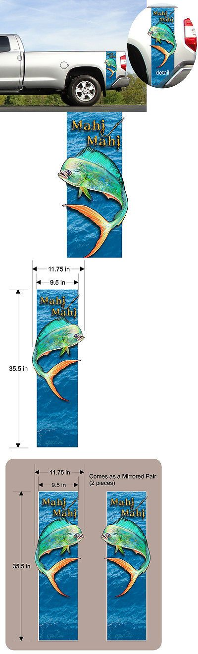Decals Stickers and Patches 179988: Mahi Mahi - Dolphin Fish - Pickup Truck Bed Band - Custom Decal Sticker Kit BUY IT NOW ONLY: $52.5