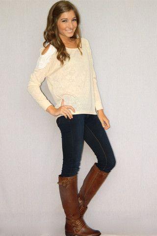 Crochet Dreams Sweater (Cream) | Girly Girl Boutique