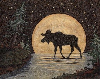 Moonlight Moose  Fine-Art Print