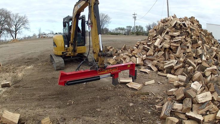 Mini Excavator With Wood Splitter Wood Splitters In 2019