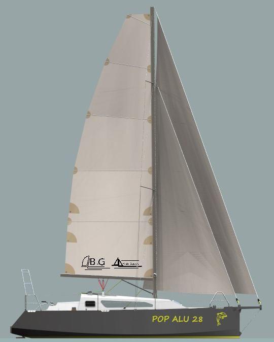 BG Yacht Design - News - New Design: Pop Alu 28 | Boats in