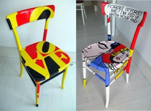 Pop Art Salvage Chairs By Silvia Zacchello
