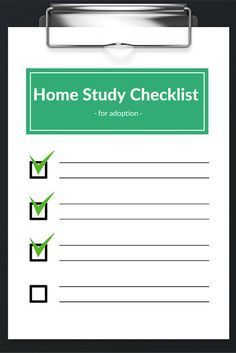 Are you ready for your adoption home study? Use this checklist to make sure you are prepared.
