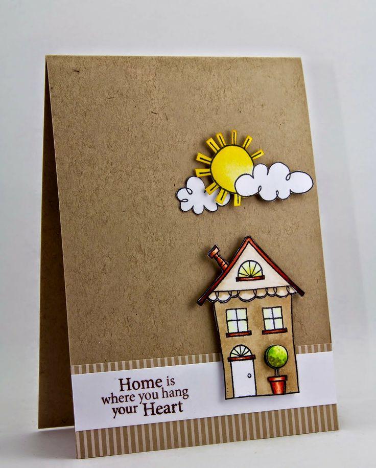 Как сделать открытку домик, поздравление