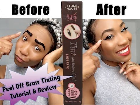 Brow Challenge | Etude House Peel Off Brow Tinting Tutorial & Review - YouTube