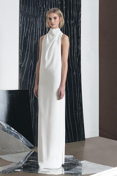 Long white dress - minimal fashion; elegance in simplicity // Zaid Affas