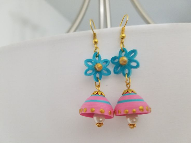 Handcrafted Quilled Chandilier Earrings by CraftiliciousDesigns
