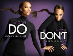 Tyra Banks' modeling moves. Does and Don'ts from Tyra #MacModels #CASTINAGENCY