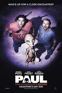 IF YOU PLAN TO SEE PAUL  don't read the entire Wiki synopsis too many spoilers. Great movie!!!  Paul is a 2011 British-American science fiction comedy film directed by Greg Mottola, written by Simon Pegg and Nick Frost, and starring Pegg, Frost, and the voice of Seth Rogen as the title character.