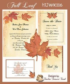 Fall Wedding Invitation Kits - http://exweddinginvites.info/fall-wedding-invitation-kits/