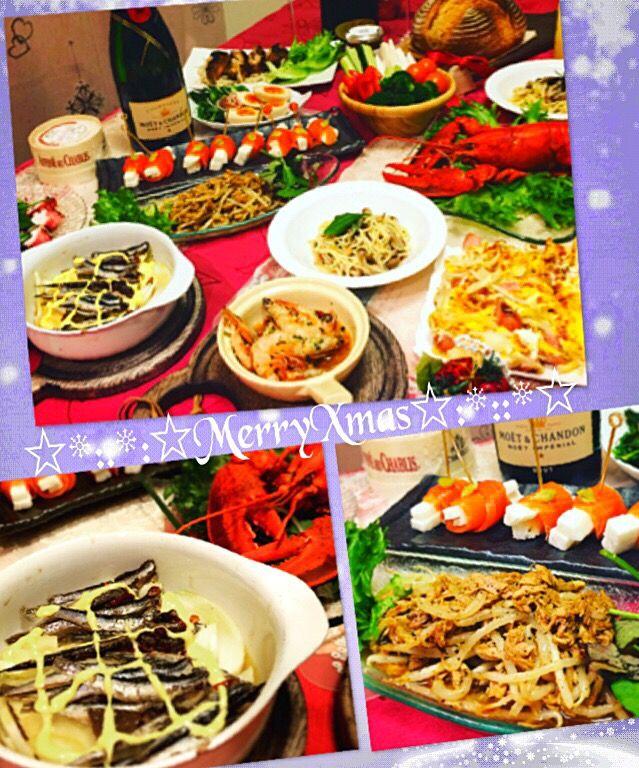 桜央里's dish photo MerryXmas       のディナー      艸        o   http://snapdish.co #SnapDish #レシピ #クリスマス #わいわいパーティー料理!!