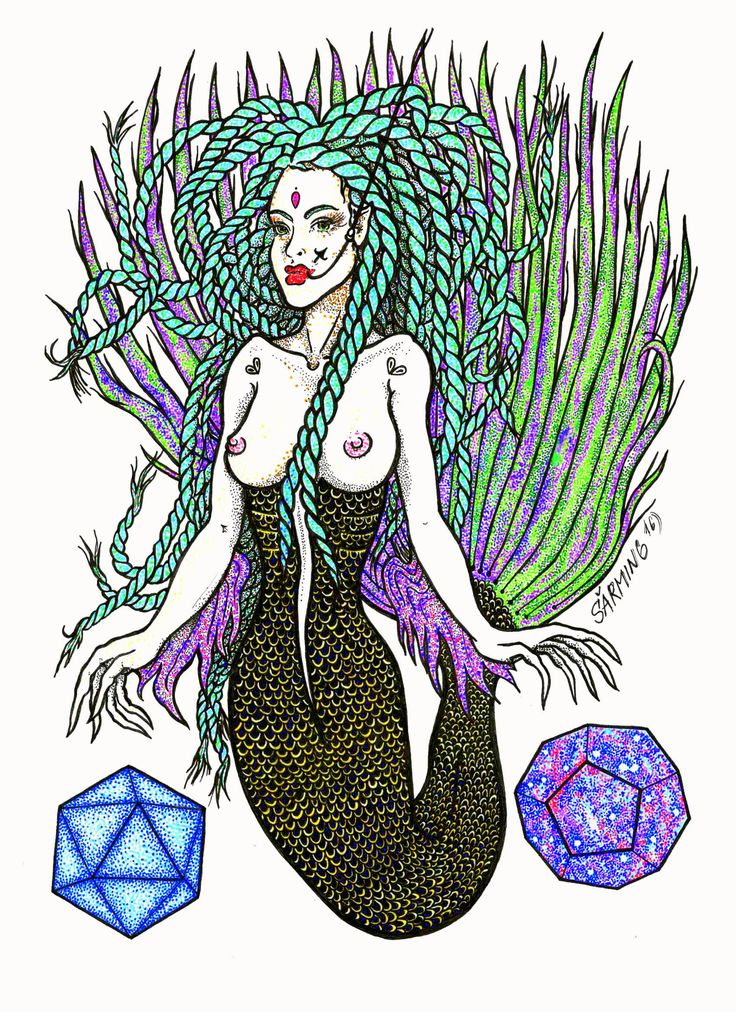 New Ariel and dodecahedron and water principles... by Šarming art