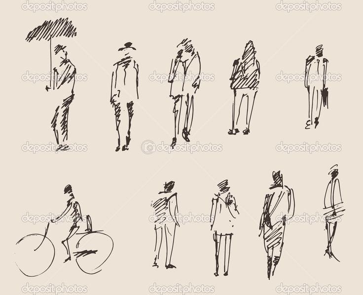 как рисовать скетчи людей - Поиск в Google