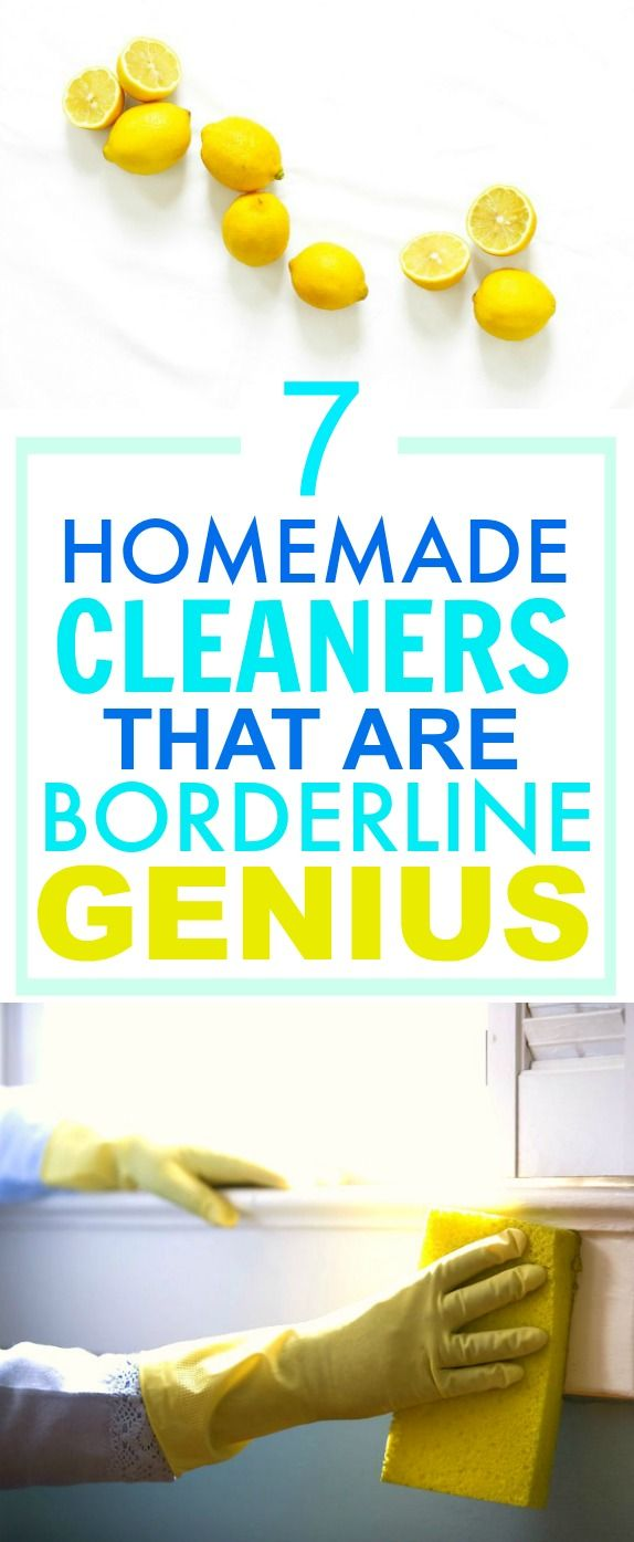These 7 Easy Homemade Cleaners are SO GOOD! They've saved me A TON of money! I'm so happy I found this AMAZING post! I'm definitely pinning this for later so I don't forget ANY of them!