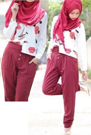 Lipstick Set ( Top + Long Pants + Pashmina ) Bahan Spandek     Fit L     Harga : Rp. 110.500,-/set     Kode Produk / Product Code : C2519