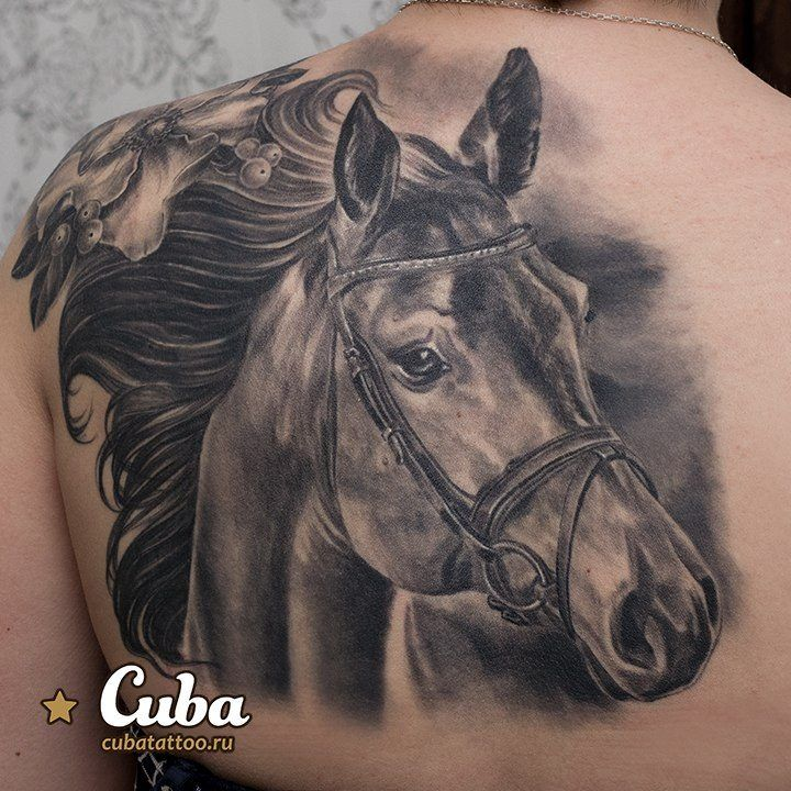horse portrait tattoo - 40 Awesome Horse Tattoos  <3 <3