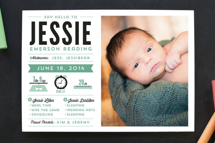 Infantgraphics Birth Announcements by Pistols at minted.com