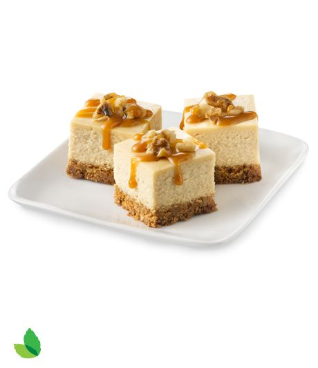 Caramel Cheesecake Bites with Truvía® Brown Sugar Blend and Truvía® Baking Blend