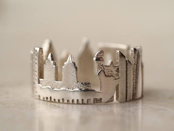 Paisaje urbano de Nueva York horizonte declaración anillo