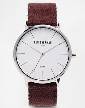 Ben Sherman Burgundy Coloured Strap Watch WB009P