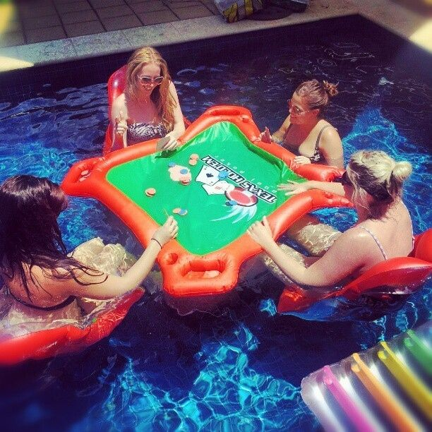 This floating poker table:   12 Totally Radical Grown-Up Pool Accessories