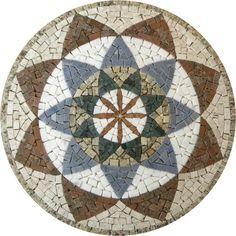 Mandala em mosaico Indiana I