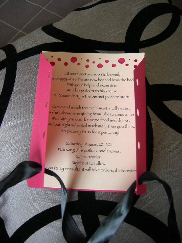 funny bachelorette party sayings for invitations%0A Lingerie Shower or Bachelorette Invite         via Etsy