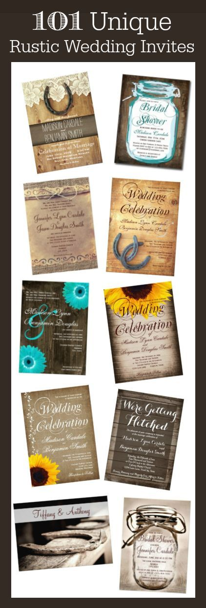 reception information on back of wedding invitation%0A     Unique Rustic Country Wedding Invitations with a variety of rustic  country wedding ideas and themes
