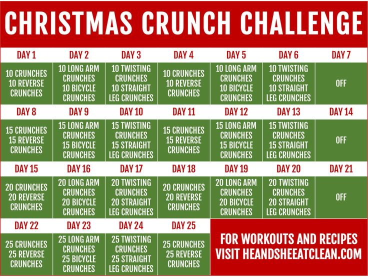 25-Day Christmas Crunch Ab Challenge   He and She Eat Clean