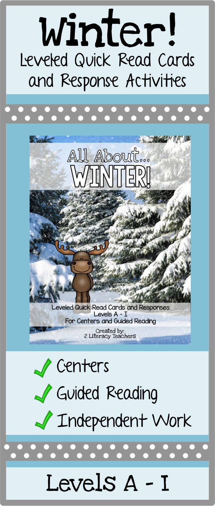 Winter Leveled Quick Read Cards And Response Activities Guided Reading Guided Reading Resources Leveled Reading Passages Guided reading activities for winter