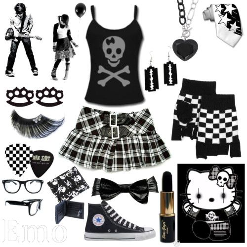 Goth/Emo/Punk/Alternative/Rocker/Skater Outfit/Style