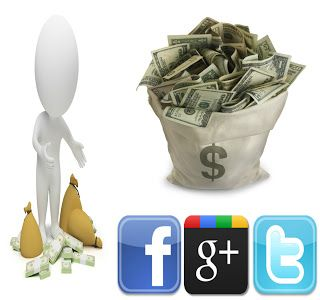 Earn money from Facebook twitter and Google+ :--> genuine trick you cannot make 100$ in oneday but you can make 1$ within 5 minutes check more info here: