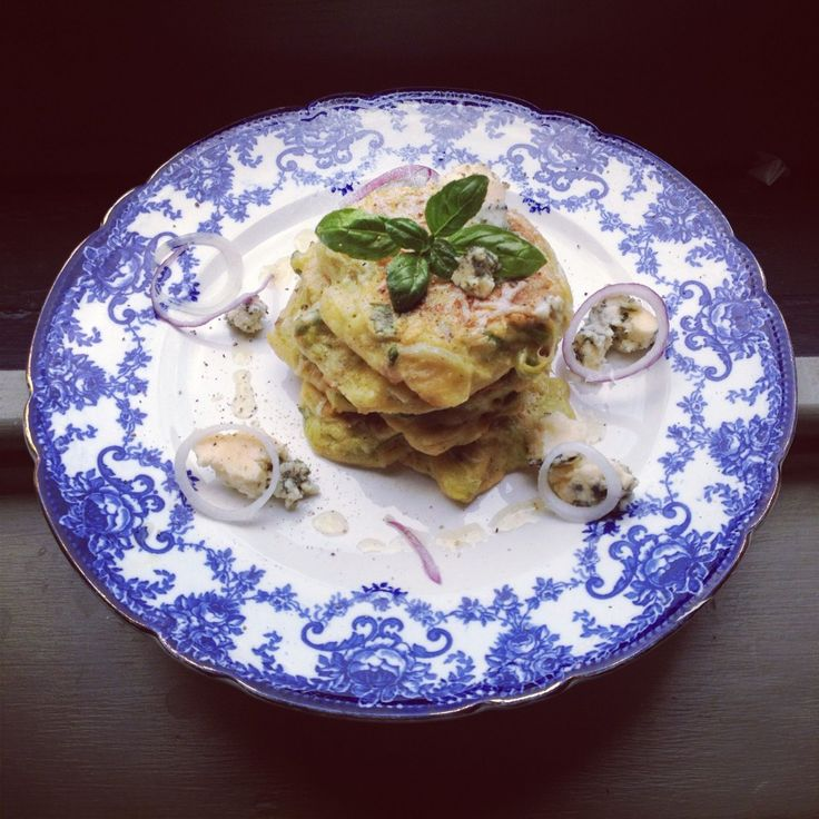 The Reluctant Vegetarians Leek Fritter Stack with Colston Bassett photo