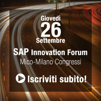 #ALTEASpA partecipa a #SAPForum 2013, il 26 settembre a Milano, l'evento è dedicato all'innovazione e al futuro del Business, tra i più importanti appuntamenti SAP nazionali e internazionali. A SAP Forum puoi conoscere i trend emergenti e le testimonianze Clienti: insieme ad ALTEA, LAMP San Prospero presenterà la sua esperienza di crescita in Italia e all'estero, con il supporto di Soluzioni SAP. Info e iscrizioni: www.alteanet.it